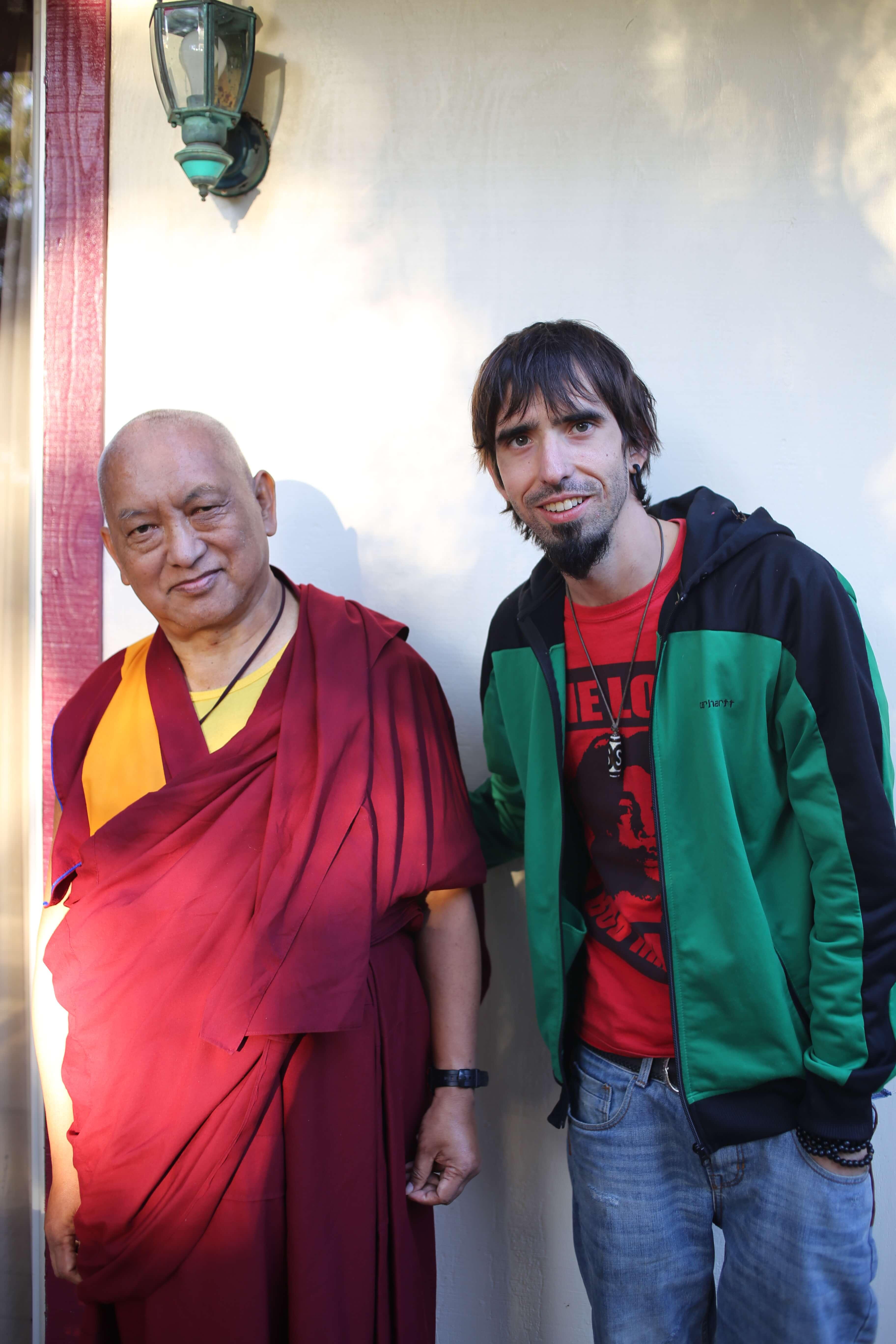 Osel con Lama Zopa Rimpoche
